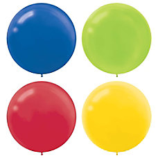 Amscan 24 Latex Balloons Assorted Colors