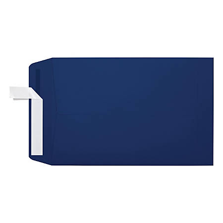 """LUX Open-End Envelopes With Moisture Closure, #6 1/2, 6"""" x 9"""", Navy, Pack Of 250"""