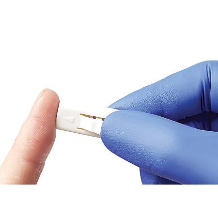 Medline Side-Button Safety Lancets, 21 Gauge x 2.4 mm, White/Pink, Box Of 200