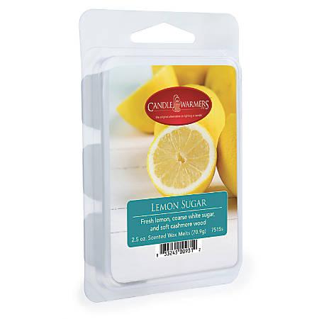 Candle Warmers Etc Wax Melts, Lemon Sugar, 2.5 Oz, Case Of 4 Packs