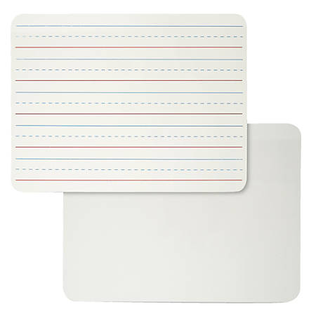 """Charles Leonard Lined Dry-Erase Lap Boards, 9"""" x 12"""", White, Pack Of 6"""