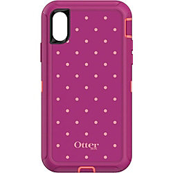 OtterBox Defender Carrying Case (Holster) iPhone X - Coral Dot - Drop Proof, Dust Resistant Port, Dirt Resistant Port, Drop Resistant Interior, Wear Resistant Interior, Bump Resistant Interior, Tear Resistant Interior, Lint Resistant Port