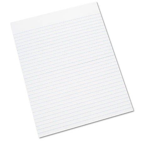 "SKILCRAFT® 30% Recycled Glued Writing Pads, 8 1/2"" x 11"", White, Legal Ruled Both Sides, Pack Of 12 (AbilityOne 7530-01-124-5660)"
