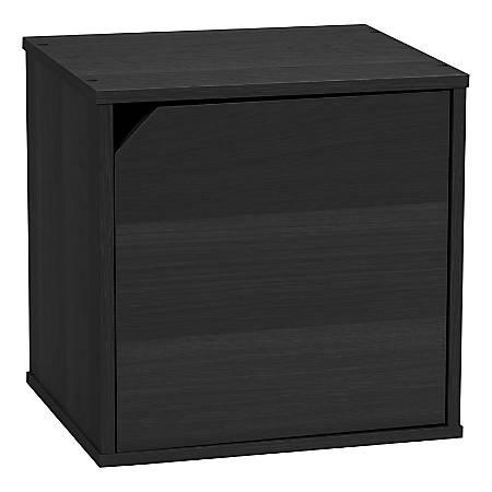 """IRIS BAKU 14""""H Modular Cube Box With Door, Black"""