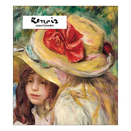 "Retrospect Renoir Monthly Desk Calendar, 6-1/4"" x 5-1/2"", January To December 2020, YCD 009-20"