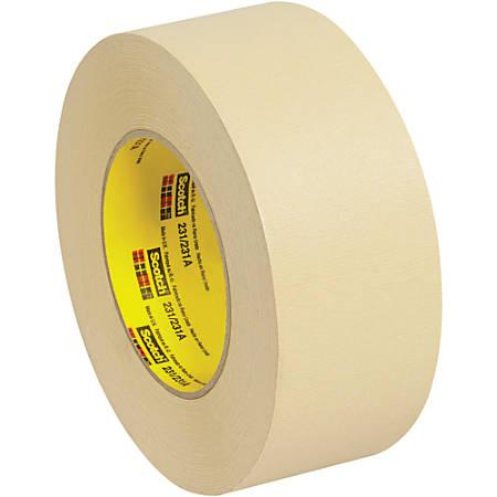 "3M™ 231 Masking Tape, 3"" Core, 2"" x 180', Tan, Case Of 12"