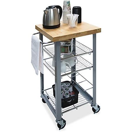 "Vertiflex Companion Serving Cart - Solid Wood - 20"" Width x 17.8"" Depth x 34"" Height - Assorted"