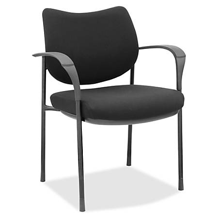 Lorell® Fabric Guest Chair, With Optional Casters, Black