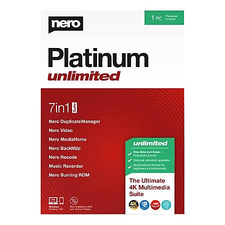Nero Platinum Unlimited Suite, Traditional Disc
