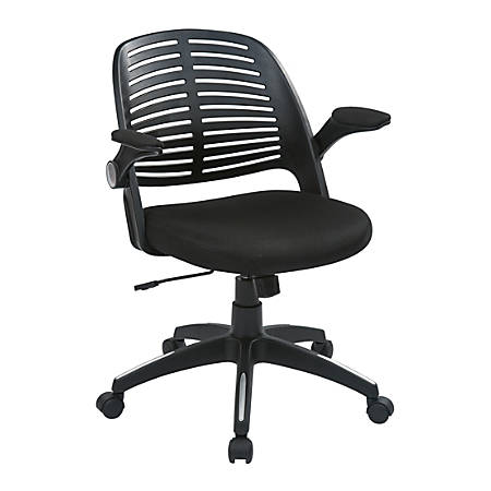 Ave Six Tyler Polyester Mid-Back Office Chair, Black/Black
