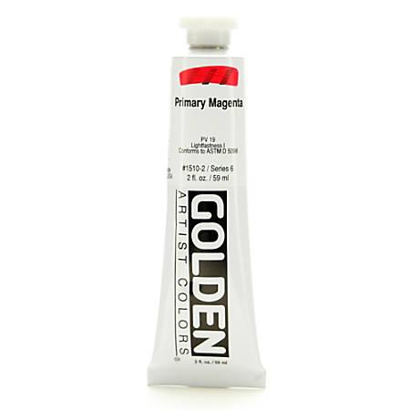 Golden Heavy Body Acrylic Paint, 2 Oz, Primary Magenta