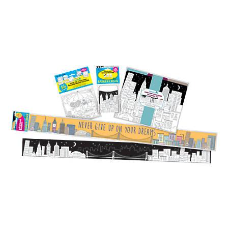 Barker Creek® Classroom Decor Set, Color Me! Cityscape