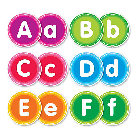 Color Your Classroom Alphabet Bulletin Board Letters, Assorted Colors