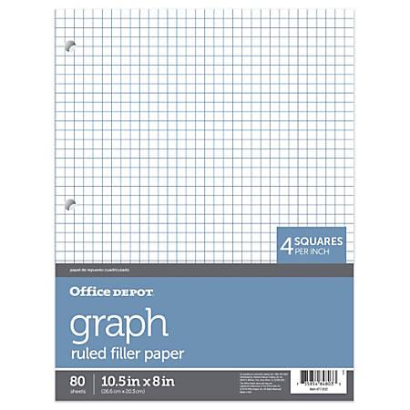 6342d71d9b Office Depot Brand Quadrille Ruled Notebook Filler Paper 8 x 10 12 ...