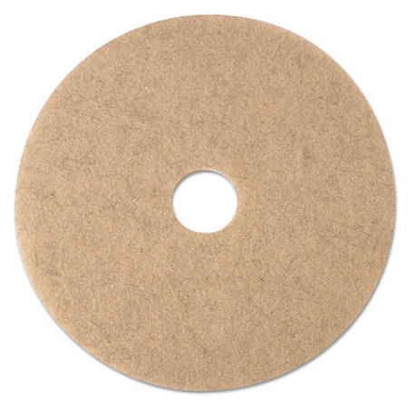"3M™ 3500 Ultra High-Speed Natural Blend Floor Burnishing Pads, 17"", Tan, Pack Of 5 Pads"