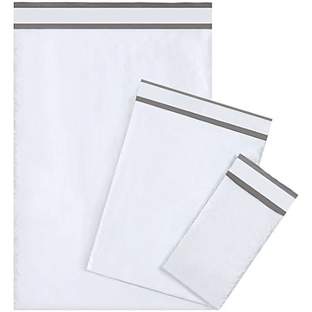 """Office Depot® Brand Bubble-Lined Poly Mailers, 9 1/2"""" x 14 1/2"""", White, Box Of 25"""