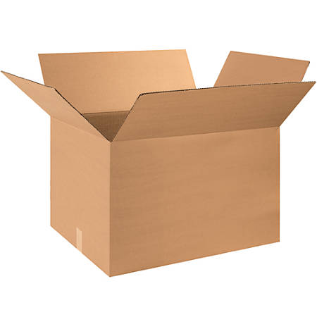 """Office Depot® Brand Corrugated Boxes, 18""""H x 20""""W x 30""""D, 15% Recycled, Kraft, Bundle Of 15"""