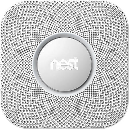 Nest Protect Smart Smoke/Carbon Monoxide Wired Alarm (2nd Generation), White