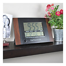 FirsTime Co Executive Digital Clock Black