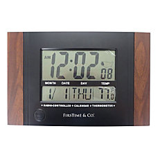 FirsTime Co Executive Digital Clock Black