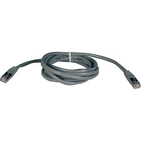 Tripp Lite 50ft Cat5e Cat5 350MHz Molded Shielded Patch Cable STP RJ45 M/M Gray 50'