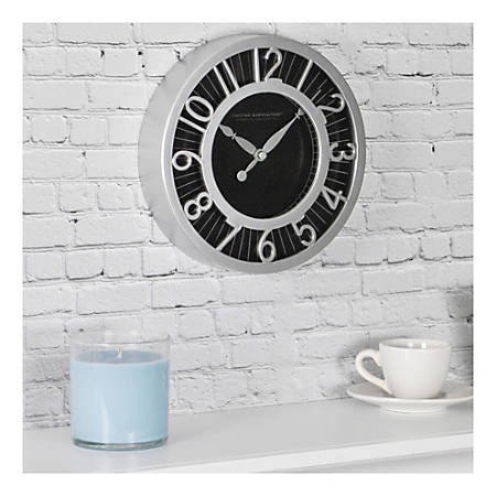 FirsTime & Co.® Radiant Round Wall Clock, Black