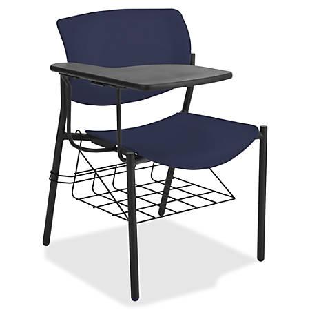 Lorell® Classroom Student Combo Desk, Tablet-Arm, Dark Blue/Black