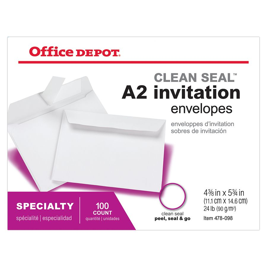 Lined Invitation Envelopes at Office Depot OfficeMax