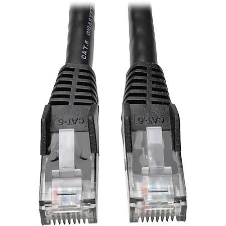 Tripp Lite 7ft Cat6 Gigabit Snagless Molded Patch Cable RJ45 M/M Black 7' - 7ft - 1 x RJ-45 Male - 1 x RJ-45 Male - Black