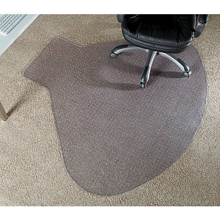 """Realspace® Chair Mat For L-Shaped Workstations, 66""""W x 60""""D, Clear"""