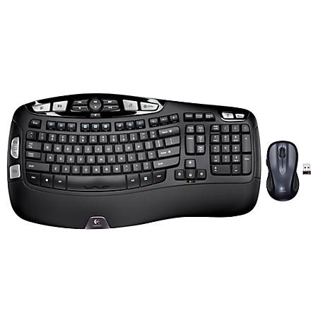 Logitech® Wireless Wave Combo MK550, Dark Silver