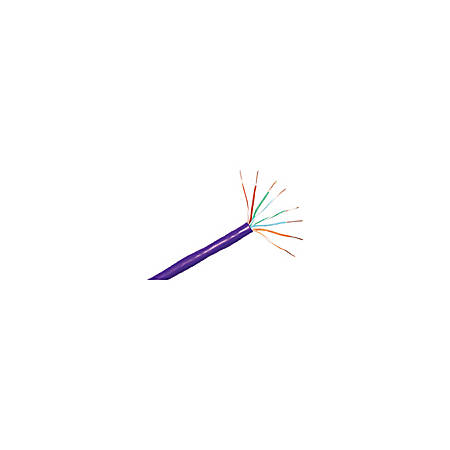 ClearLinks 1000FT Cat. 6 550MHZ Solid Purple Bulk Cable - Category 6 - 1000ft - Bare Copper - Bulk - Solid - Purple