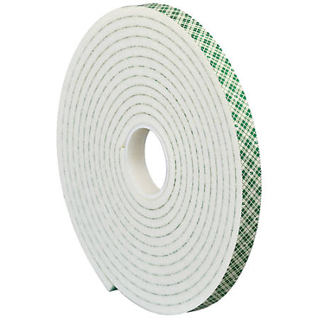 "3M™ 4004 Double-Sided Foam Tape, 3"" Core, 2"" x 5 Yd., Natural"
