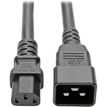 Tripp Lite 7ft PDU Power Cord Cable C13 to C20 Heavy Duty 15A 12AWG 7'