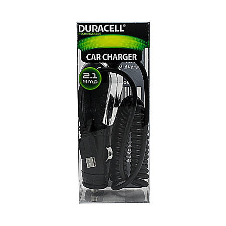 Duracell® Micro USB Car Charger, Black, LE2248
