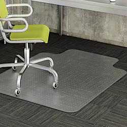 Realspace Advantage Chair Mat Wide Lip
