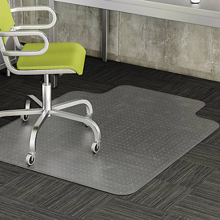 "Realspace® Wide-Lip Chair Mat For Thin Commercial-Grade Carpets, Advantage, 46""W x 60""D, Clear"