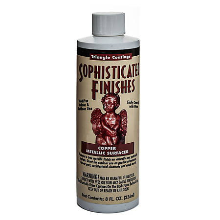 Triangle Coatings Sophisticated Finishes Metallic Surfacers, 8 Oz, Copper