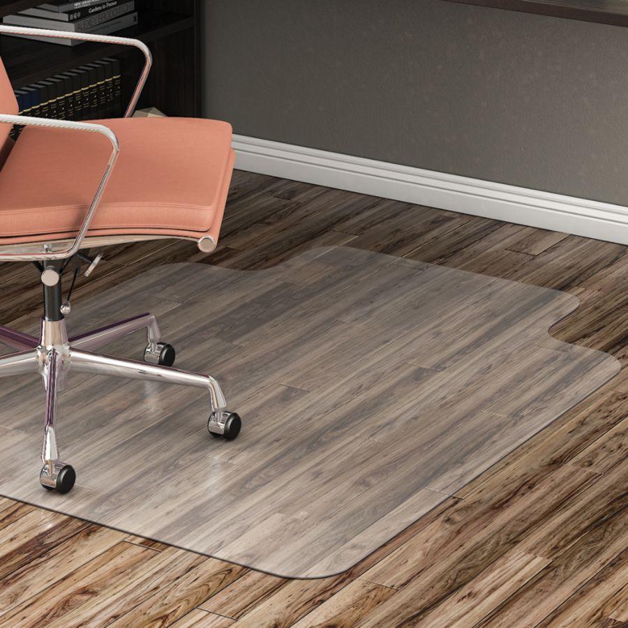 realspace hard floor chair mat wide lip 45 w x 53 d translucent rh officedepot com floor mats for office chairs on carpet floor mats for computer chairs