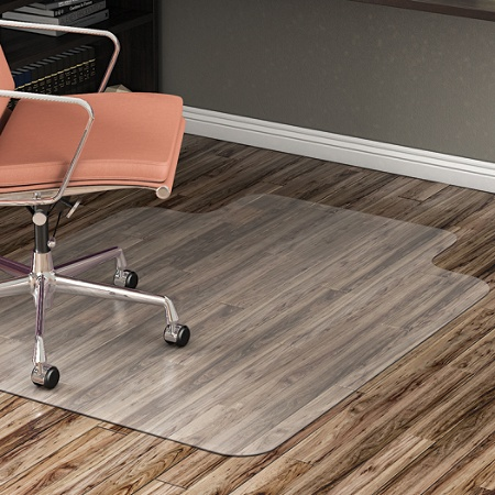 Reale Hard Floor Chair Mat Wide Lip 45 W X 53 D Translucent By Office Depot Officemax