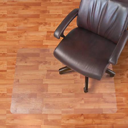 "Realspace® Hard Floor Chair Mat, Rectangular, 46"" x 60"", Clear"