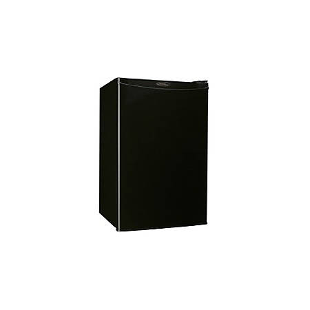 Danby Designer Compact Refrigerator - 4.40 ft³ - Manual Defrost - Reversible - 3.99 ft³ Net Refrigerator Capacity - 0.45 ft³ Net Freezer Capacity - 226 kWh per Year - Black - Built-in