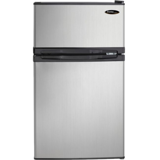 Danby Designer Dual Door Compact Fridge With Freezer By Office Depot U0026  OfficeMax
