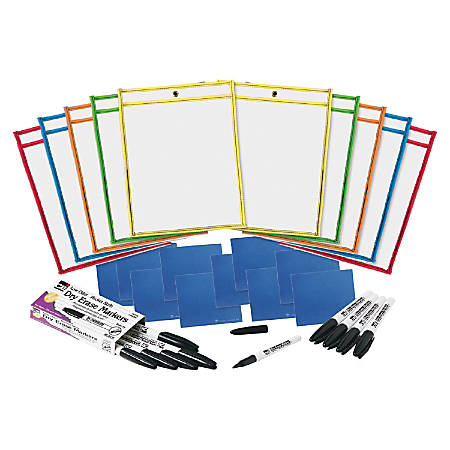 CLI Dry-erase Pocket Class Pack - 10 / Set