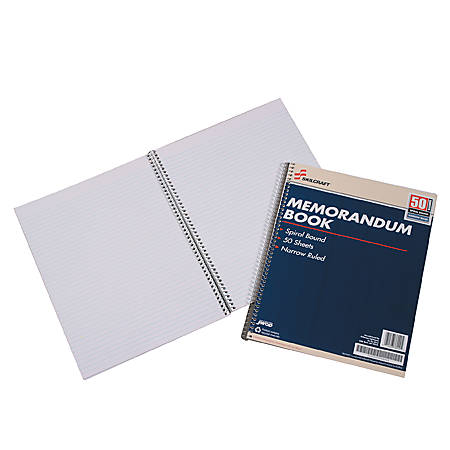"Memo Books, 8 1/2"" x 11"", White, Pack Of 12 (AbilityOne 7530-00-286-6952)"