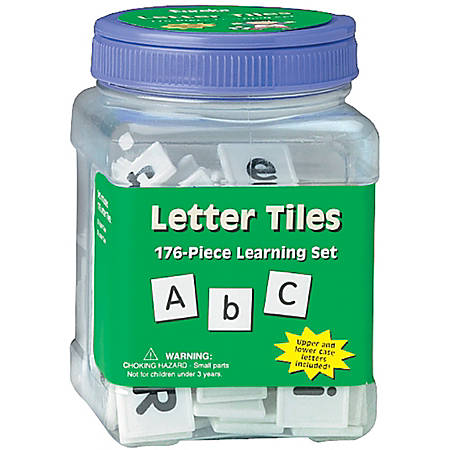 Eureka™ Learning Tool Tubs, Letters, Pack Of 6