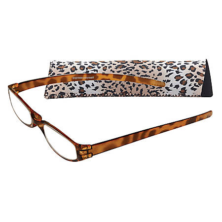 Zoom Eyeworks Reading Eyewear, Expressions Neoprene Cheetah, +2.00