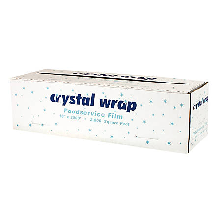 "Anchor Packaging Crystalwrap™ Cutter Box Food Wrap, 18"" x 3,000"", Clear"