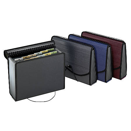 Pendaflex® 13-Pocket Poly File Jacket With Expanding Bottom, Letter Size, Smoke