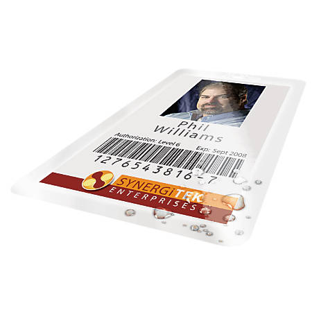 GBC® UltraClear™ Thermal Laminating Pouches, Badge ID Card Size, Clear, Pack Of 100